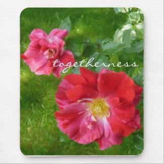 togetherness rose mousepad
