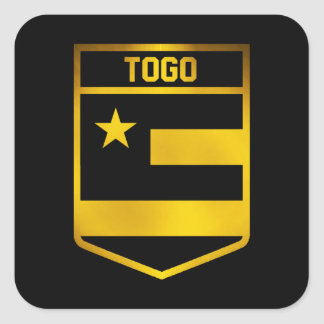 Togo Emblem Square Sticker