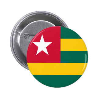 Togo flag 6 cm round badge