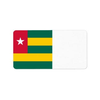 Togo Flag Address Label