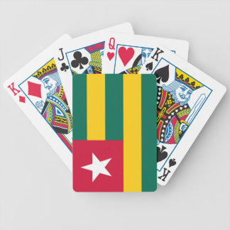 Togo flag bicycle playing cards