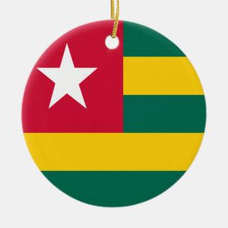 Togo flag ceramic ornament