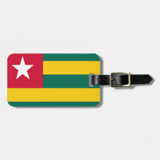 Togo flag luggage tag