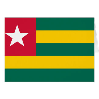 Togo Flag Note Card