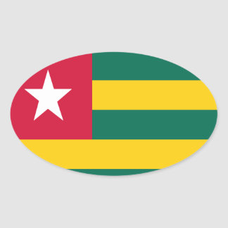 Togo flag oval sticker