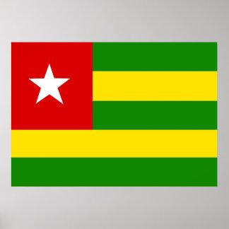 Togo Flag Poster