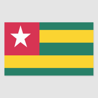 Togo flag rectangular sticker