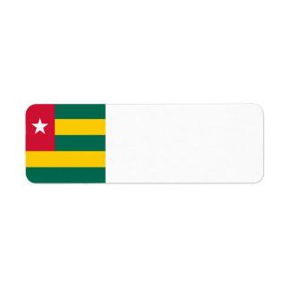 Togo Flag Return Address Label