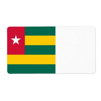 Togo Flag Shipping Label