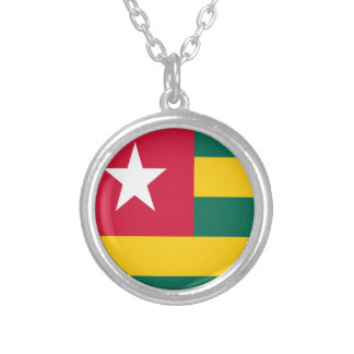 Togo flag silver plated necklace