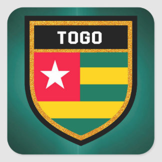 Togo Flag Square Sticker