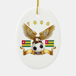 Togo Football Designs Ceramic Ornament