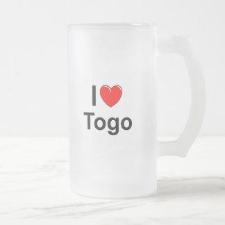 Togo Frosted Glass Beer Mug