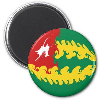 Togo Gnarly Flag 6 Cm Round Magnet