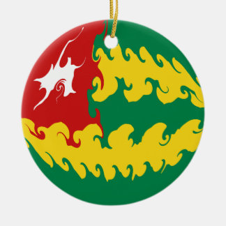 Togo Gnarly Flag Christmas Ornament
