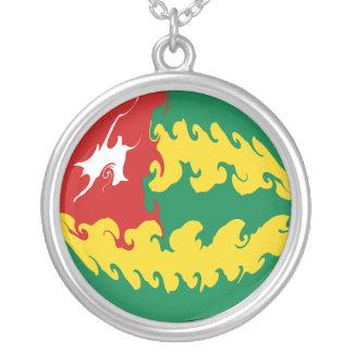 Togo Gnarly Flag Round Pendant Necklace