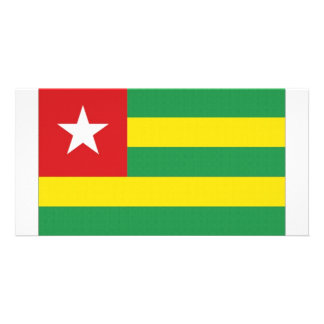 Togo National Flag Photo Card Template