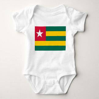Togo National World Flag Baby Bodysuit
