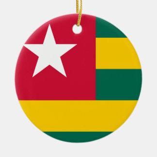 Togo National World Flag Ceramic Ornament