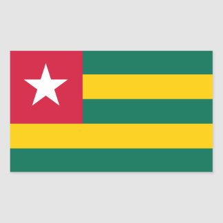 Togo/Togolese Flag Rectangular Sticker