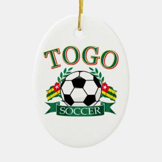 Togolese Soccer Designs Ceramic Ornament
