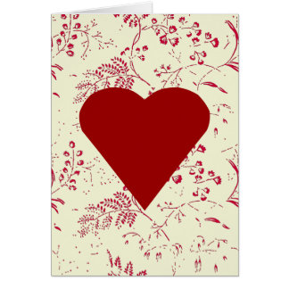 Toile Heart Valentine Greeting Card