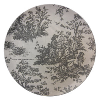 Toile in Black & White Plate