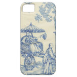 Toile in Blue & White iPhone 5 Cover