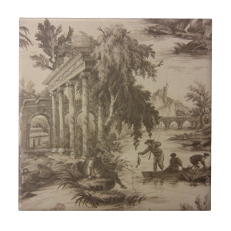 Toile Scene Small Square Tile