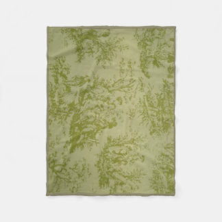 Toile Traditional print Fleece Blanket