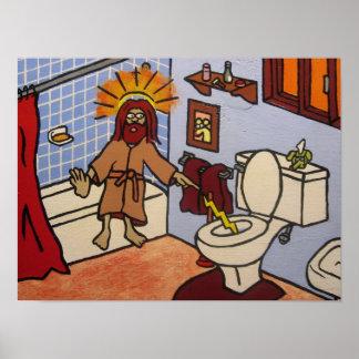 Toilet Jesus Poster