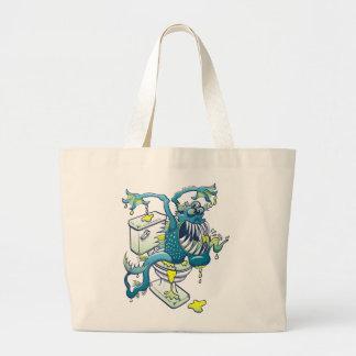Toilet Monster Tote Bag