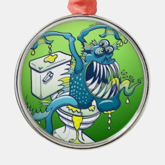 Toilet Monster Metal Ornament