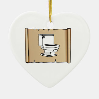 toilet on the scroll ceramic ornament