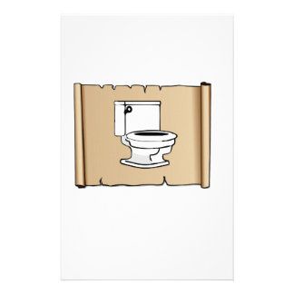 toilet on the scroll personalized stationery