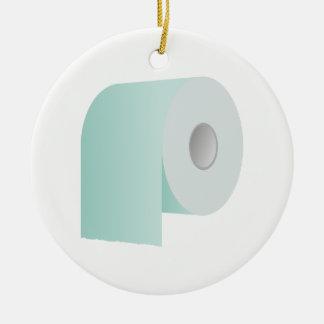 Toilet Paper Ceramic Ornament