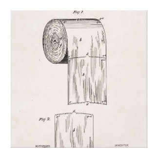 Toilet Paper Patent No. 465,588 by S. Wheeler 1891 Canvas Print
