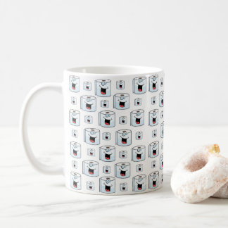 Toilet paper white childrens coffee tea mug
