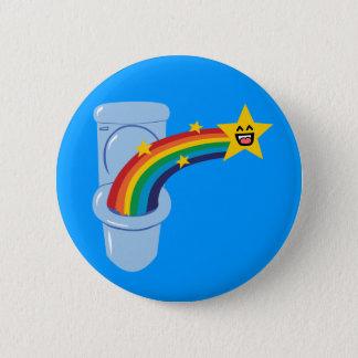 Toilet Rainbow 6 Cm Round Badge