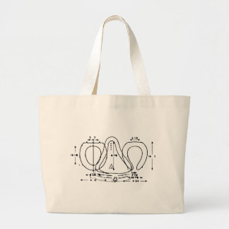 toilet seat large tote bag