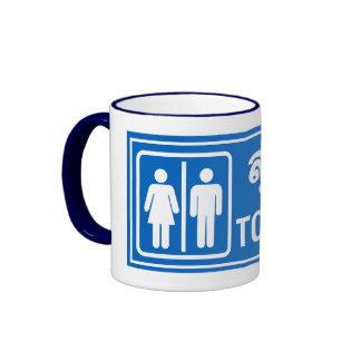 Toilet Sign, Thailand Ringer Mug
