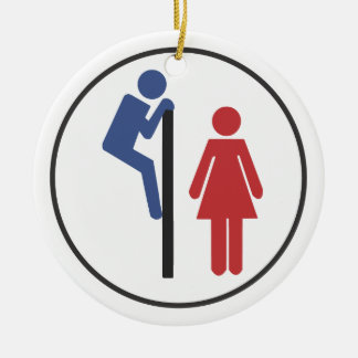 Toilet Spy funny Ornament for Christmas Tree