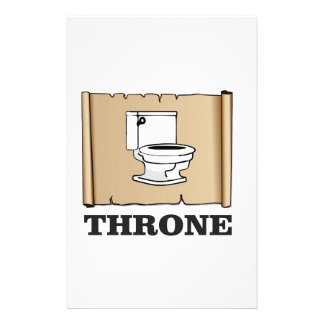 toilet throne fun customized stationery