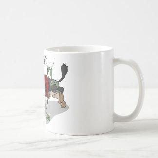 toilet time dachshund basic white mug