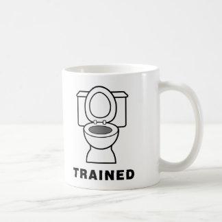 Toilet Trained Basic White Mug