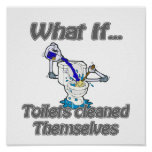 toilets cleaned themselves