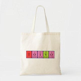 Toivo periodic table name tote bag