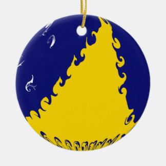 Tokelau Ganrly Flag Christmas Ornament