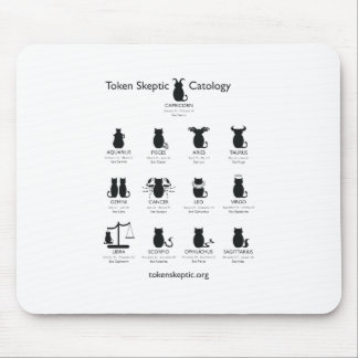 Token Skeptic Catology / Astrology Mouse Pad