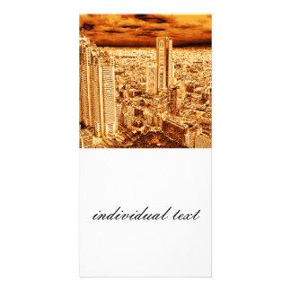 Tokio, golden Light Customized Photo Card